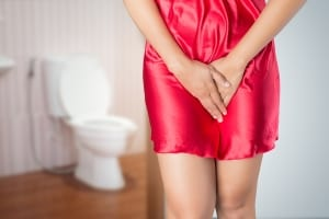 woman with urinary incontinence