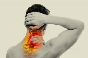 men with a pain in the neck
